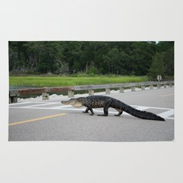 Alligator Right Of Way Rug