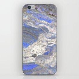 Arabescato-Orobico-Blue-Marble iPhone Skin