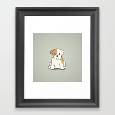 English Bulldog Illustration Framed Art Print