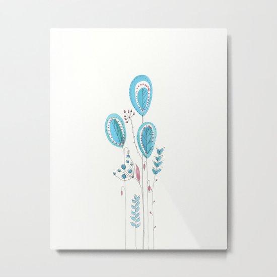Botanical vibes 12 Metal Print