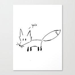 The Fox Says... Canvas Print