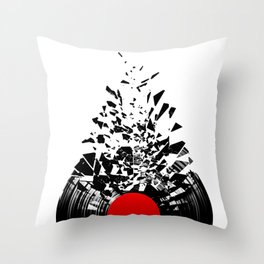 Vinyl shatter Throw Pillow