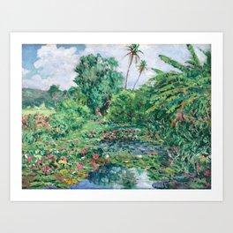 burrell water liliesx Art Print