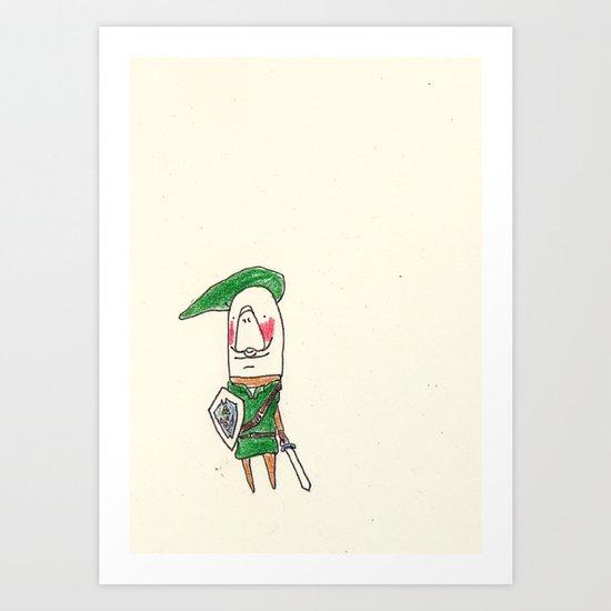 Manatee as Link Art Print