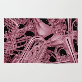 Brass Instruments Rose Rug