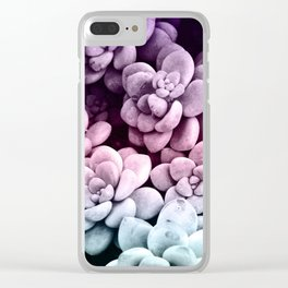 Dreamy Succulents #1 #pastel #decor #art #society6 Clear iPhone Case