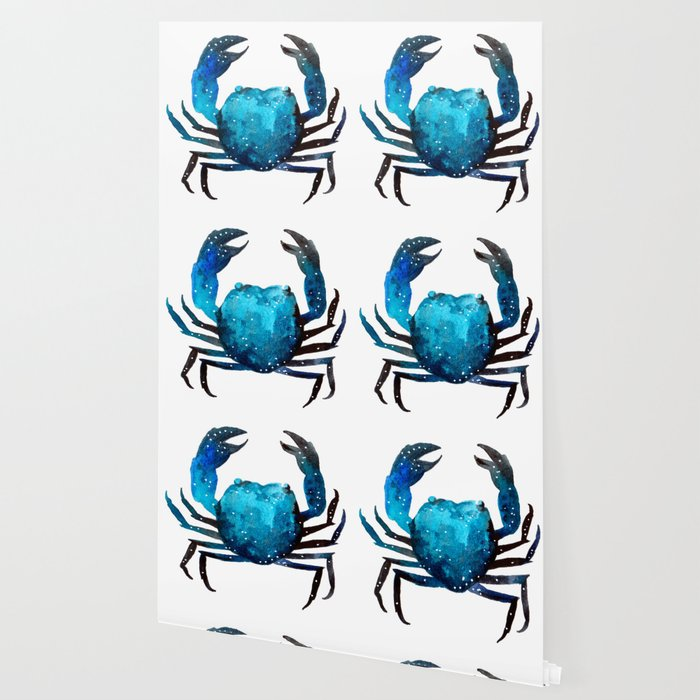 Cerulean blue Crustacean Wallpaper