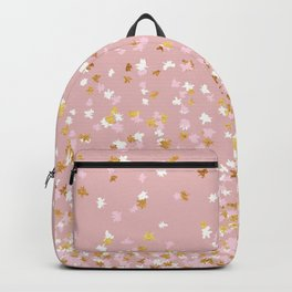 Floating Confetti - Pink Blush and Gold Backpack
