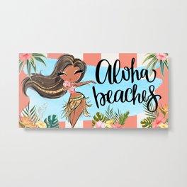Aloha Beaches Cabana Stripe Metal Print