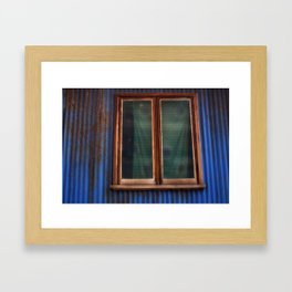 Blue Rust Framed Art Print
