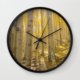 Good Vibes in The Forest Wall Clock