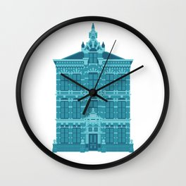 Blue House in Holland Wall Clock