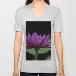 Purple Sacred Lotus Unisex V-Neck