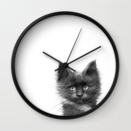 Black Kitten SK135 Wall Clock