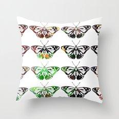 Butterflies - Digital Work Throw Pillow