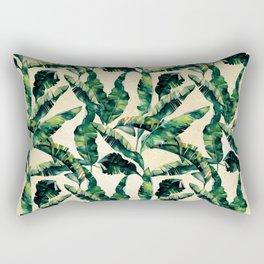 Banana Leaf Pattern Linen Rectangular Pillow