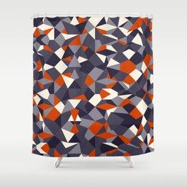 Fragmented geometrics - orange and grey shades Shower Curtain