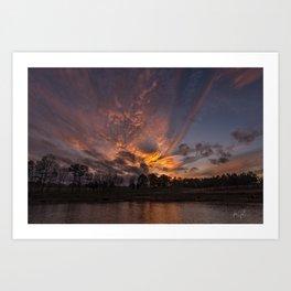 Colington Sunset on the sound Art Print