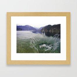 Schplaaash  Framed Art Print