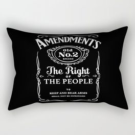 2nd Amendment Whiskey Bottle Rectangular Pillow