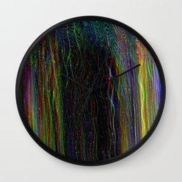 Photo glitch. Television signal fail Wall Clock