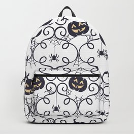 happy hallowen curves and pumkins pattern Backpack
