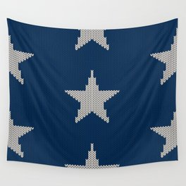 Knitted Stars Wall Tapestry