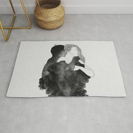 You are my peaceful heaven b&w. Rug