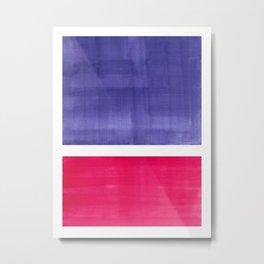 Colorful Bright Minimalist Rothko Color Field Midcentury Modern Art Purple Red Vintage Pop Art Metal Print