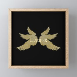 Lucifer with Wings Light Framed Mini Art Print