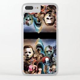 Horror Icons. Clear iPhone Case