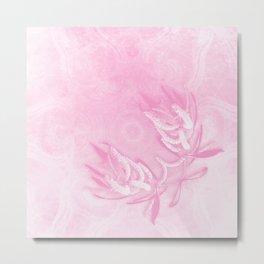 Wattle and kaleidoscope in pink Metal Print