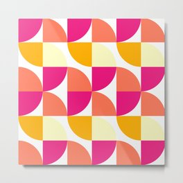 Bauhaus Geometric Art Pattern Design Metal Print