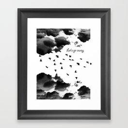 let's go away Framed Art Print