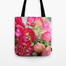 Fiery Red Flowers Tote Bag