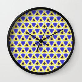 A sea of Triangles Wall Clock