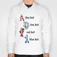dr seuss Hoodies featuring 'Lots of Bots' by Dr. Light (Mega Man / Dr. Seuss parody) by PeterParkerPA