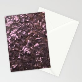 Pink Rainbow Shimmering Mother of Pearl Stationery Cards