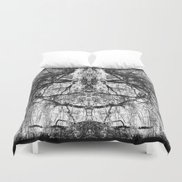 Heart Shaped Branches Nature's Chandelier Duvet Cover