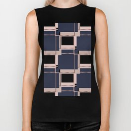 Abstract luxury Square pattern Biker Tank