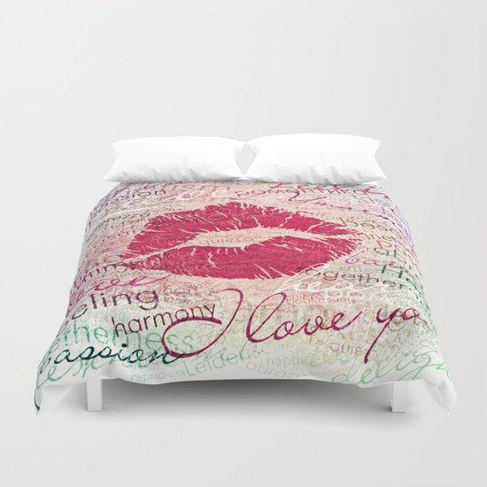 Emotional Kiss Duvet Cover