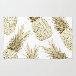 Gold Pineapple Bling Rug