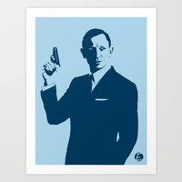 bond Art Prints featuring Bond by Ed Graves