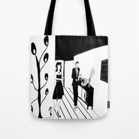 cocktail Tote Bags featuring COCKTAIL by Pelotica Monroe