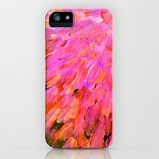 SEA SCALES IN PINK - Hot Pink Feminine Beach Ocean Waves Feathers Abstract Acrylic Painting Fine Art Slim Case iPhone (5, 5s)