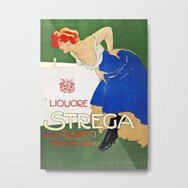 Vintage Italian poster - Dudovich - Liquore Strega Metal Print