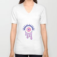 murakami V-neck T-shirts featuring EYE DRIP by Stephanie Son
