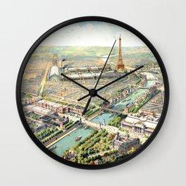 Paris World Fair 1900 Wall Clock