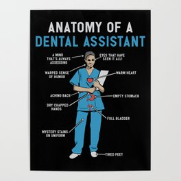 Funny Anatomy of a Dental Assistant Poster