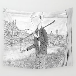 Tramp in search of identity Wall Tapestry